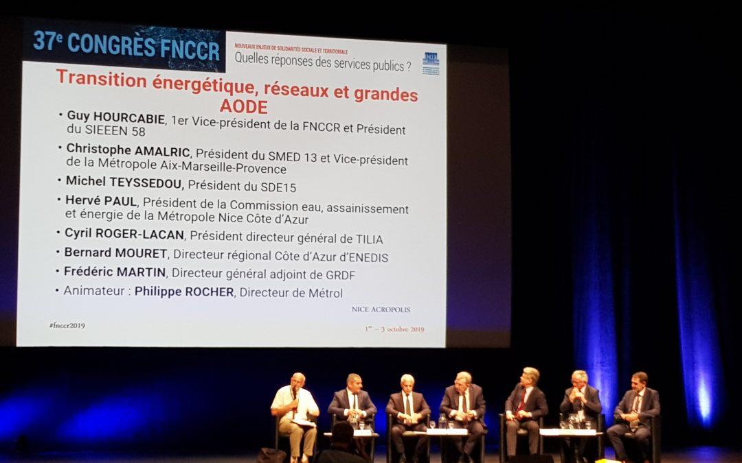Le SMED13 présent au Congrès de la FNCCR à Nice du 1er au 3 octobre 2019